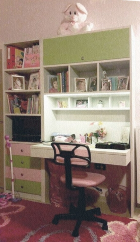 σετ γραφείο ντουλάπια συρτάρια παιδικά