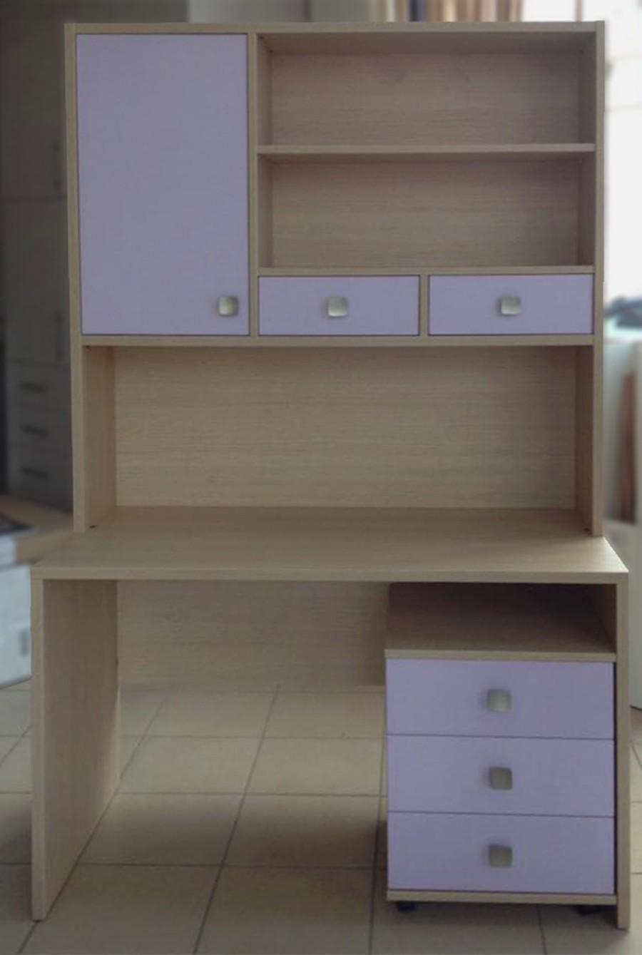 σετ παιδικό γραφείο με συρταριέρα και βιβλιοθήκη