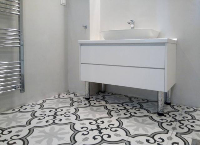 έπιπλο μπάνιου με συρτάρια λευκό