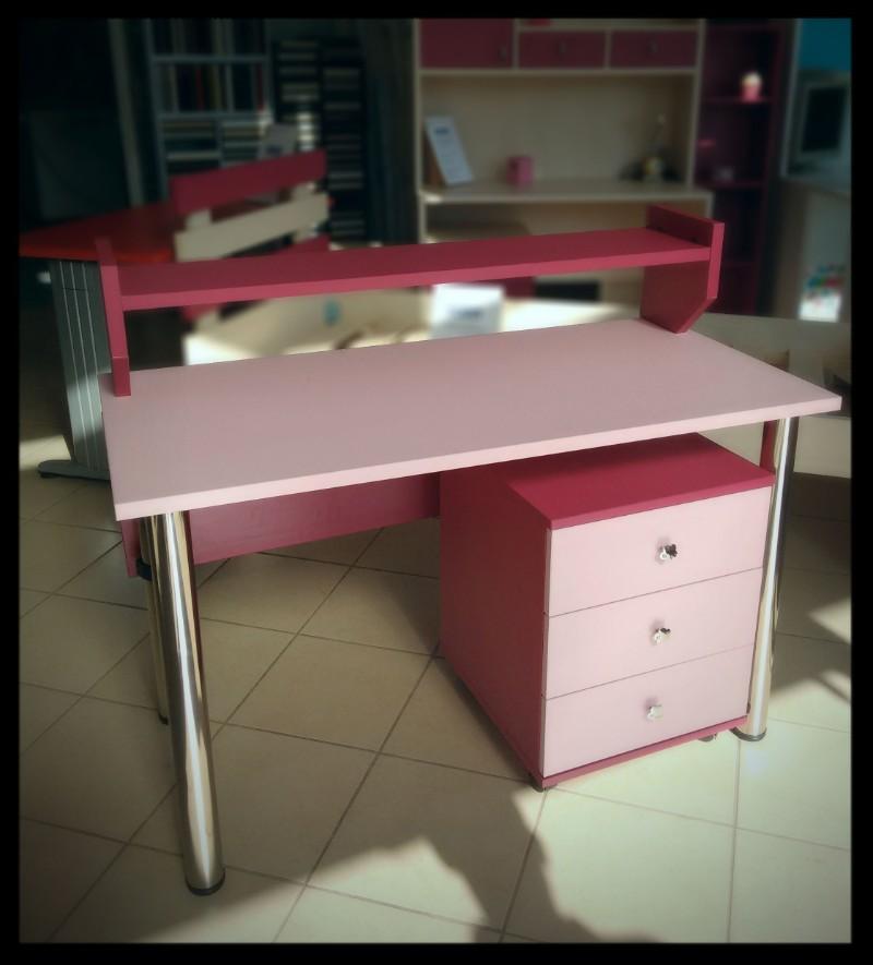 παιδικό γραφείο ρόζ φούξια