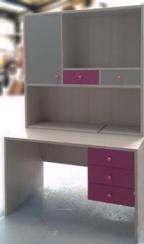 παιδικό γραφείο με βιβλιοθήκη φούξια