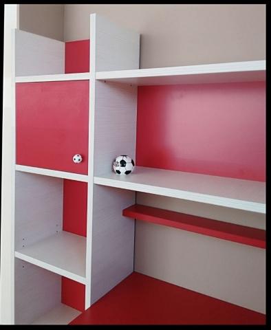 παιδική βιβλιοθήκη κόκκινη λευκή