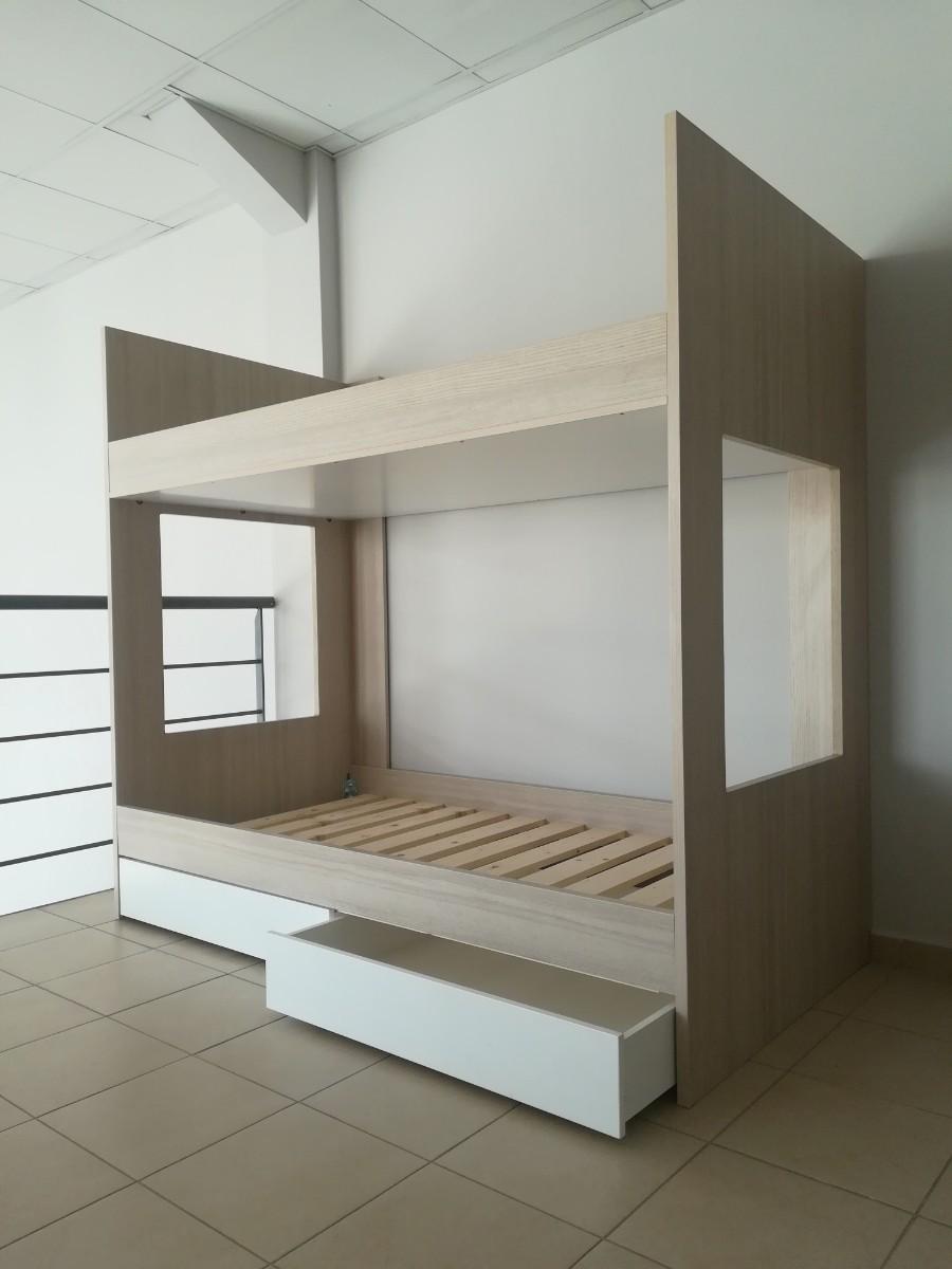 παιδικό κρεβάτι κουκέτα με αποθηκευτικό χώρο συρτάρια
