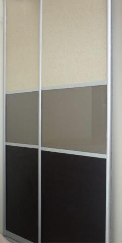 δίφυλλη συρόμενη ντουλάπα τρίχρωμη καθρέπτησ