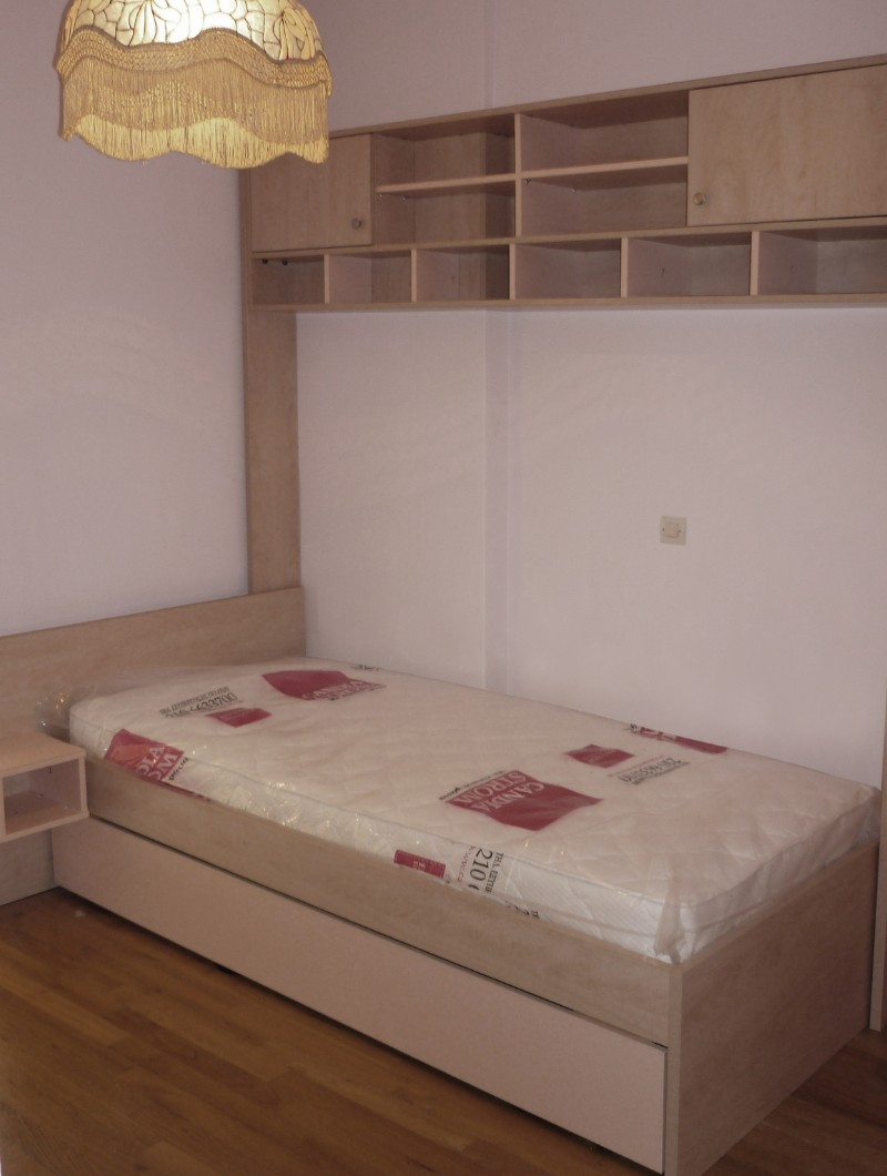 παιδικό κρεβάτι μελαμίνης με αποθηκευτικό χώρο συρτάρι