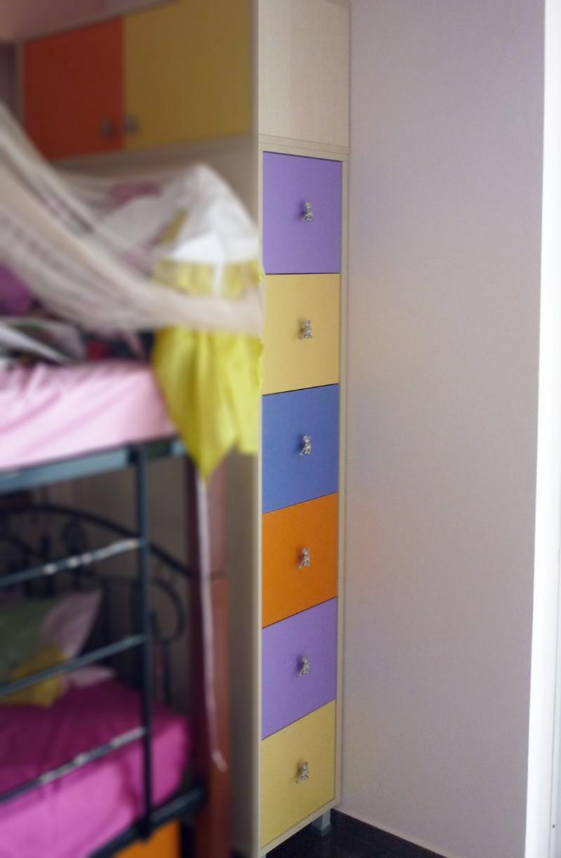 υπερυψωμένο παιδικό κομοδίνο πολύχρωμο
