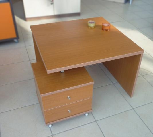 τραπέζι σαλονιού μελαμίνης στο χρώμα του ξύλου με συρταριέρα