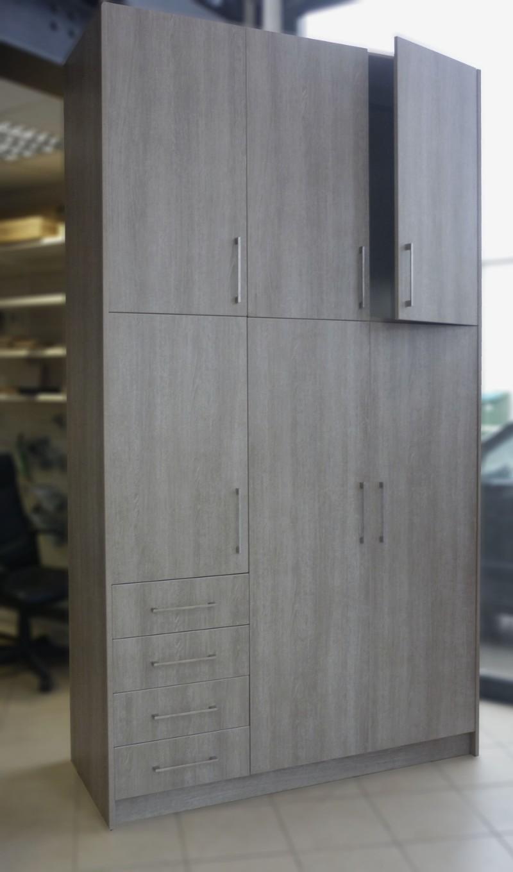 τρίφυλλη ανοιγόμενη ντουλάπα μελαμίνης