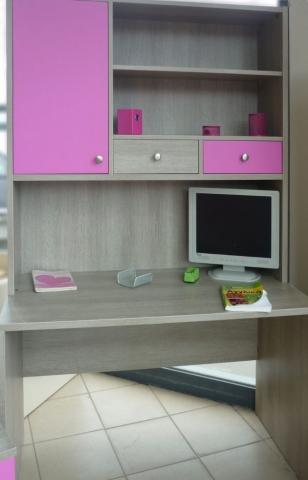 παιδικό γραφείο σέτ με ενσωματώμενη βιβλιοθήκη φούξ