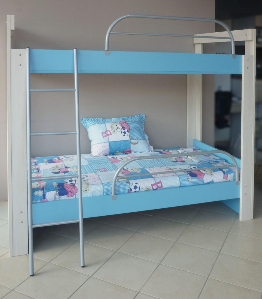 παιδικό κρεβάτι κουκέτα με προστατευτικό κάγκελο