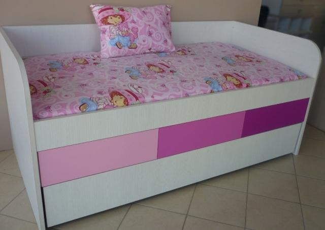 αναδιπλούμενο παιδικό κρεβάτι με συρτάρια
