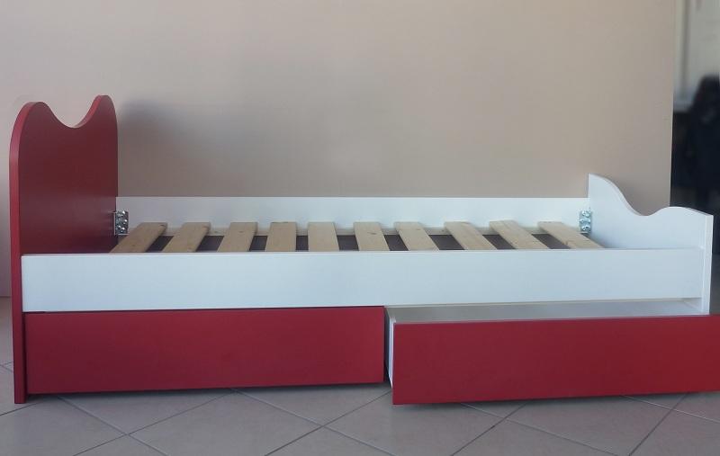 παιδικό κρεβάτι με δύο συρτάρια αποθηκευτικό χώρο αγόρι