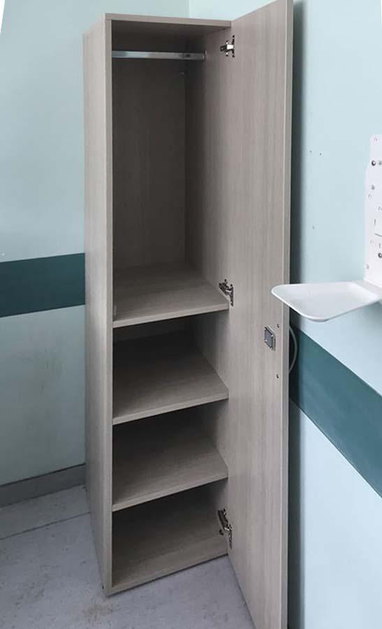 μονόφυλλη ανοιγόμενη ντουλάπα μελαμίνης με φυσικά νερά ξύλου
