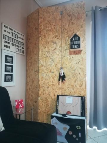 ξύλινη κατασκευή διαχωριστικό γραφείου