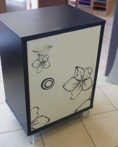 ντουλάπι μελαμίνης ειδική κατασκευή με σχέδια διάφορα λουλούδια