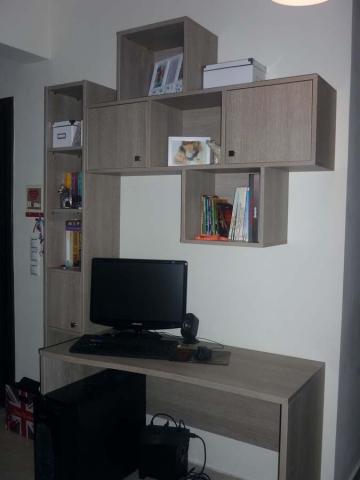 ξύλινο σύνθετο γραφείο με ενσωματωμένη βιβλιοθήκη και ντουλάπια