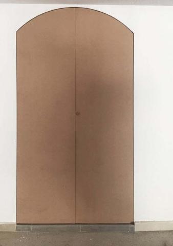 ξύλινη δίφυλλη πόρτα τοξοτή